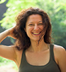 Yoga instructor Sally Goldfinger