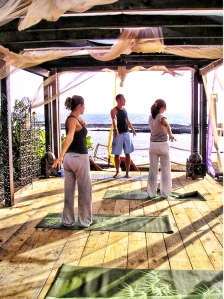 beach yoga deck