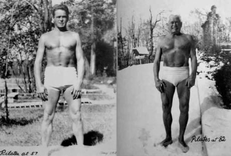 Joseph Pilates at 57 and 82