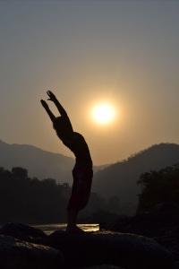 Sun salutation Rishikesh