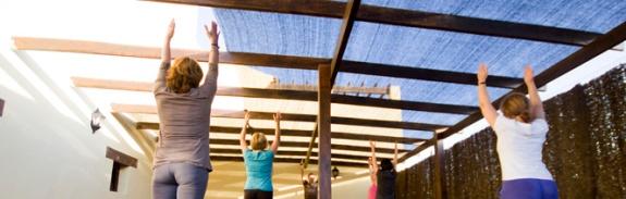 Pilates class at villa azul