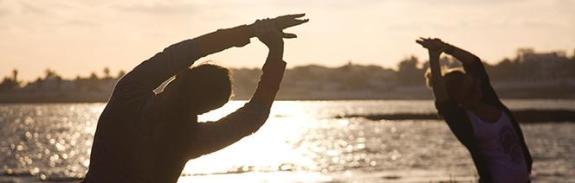 Sunrise yoga, Lotus Yoga Lodge